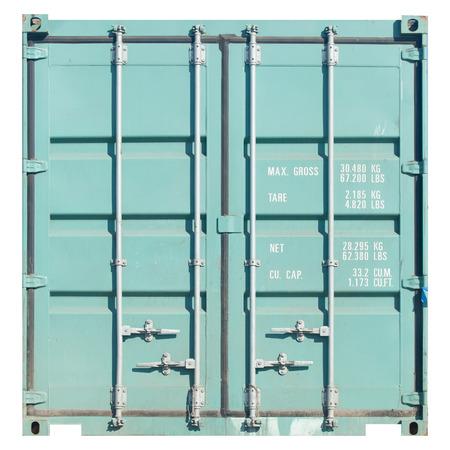 貨物輸送のコンテナーは、白い背景で隔離