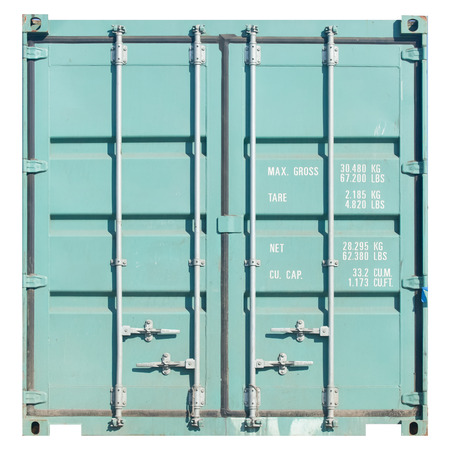 container: Freight shipping containers isolated on white background