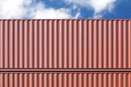 dockyard: Stack of container shipping at dockyard area