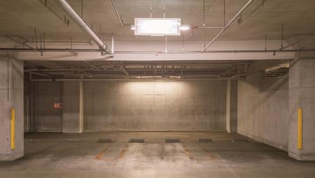 car park interior: Interior of Empty underground car parking lot