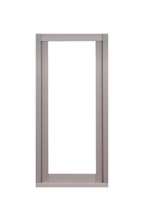 흰 배경에 고립 된 금속 창틀