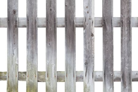 Wood fence pattern isolated on white background 写真素材