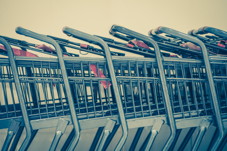 departmentstore: Close - up Row of shopping cart at departmentstore