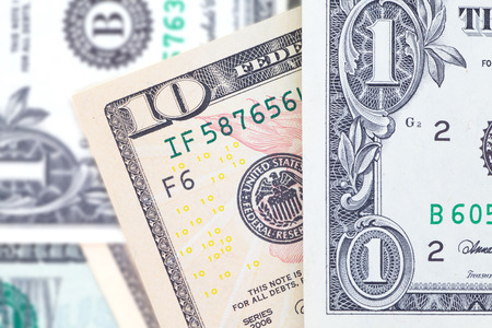 banknotes: The dollar banknotes for business and finance concept