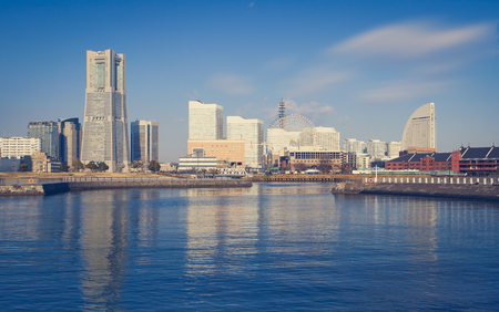 minato: Panorama view at Yokohama minato mirai bayside