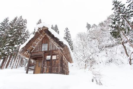 shirakawago: Site Shirakawago village with snow in winter