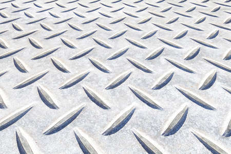 Close - up Diamond plate metal texture and background