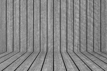 on wood floor: Black wood fence and wood floor texture and background seamless