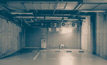 car park interior: Indoor or underground car park at modern building