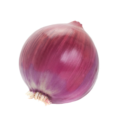 Large red onion isolated on white background
