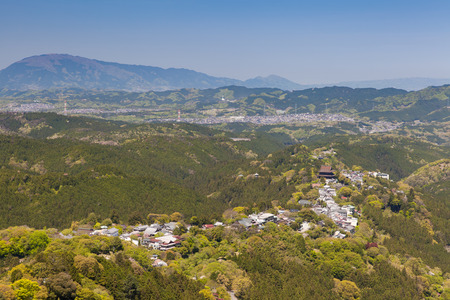 seaonal: Mount Yoshino and Yoshino town at Nara prefecture, Japans most famous cherry blossom spot