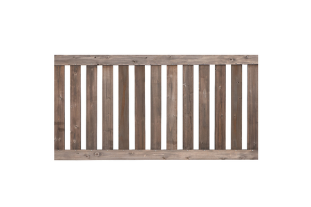 frence: Wood fence isolated on white background , Wood fence , Brown wood frence Stock Photo