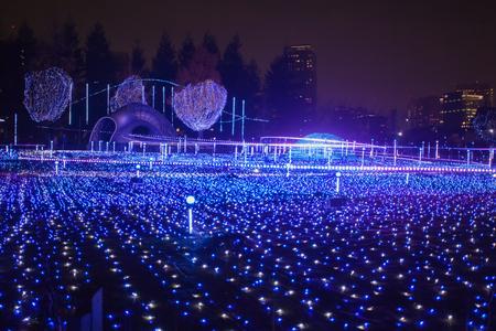 Meilleure Illuminations de la saison de Noël et d'hiver de Tokyo à Tokyo Mid town Banque d'images