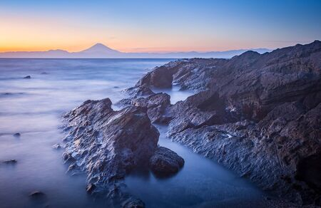 kanagawa: Mt.Fuji and sea in winter season seen from Jogashima Island, Kanagawa prefecture