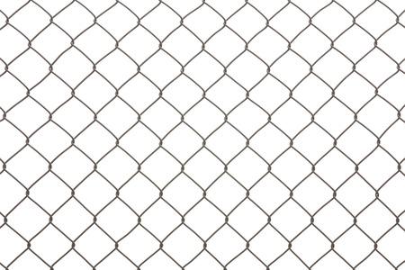 Eisen Draht Zaun isoliert auf weißem Hintergrund Standard-Bild - 63088628