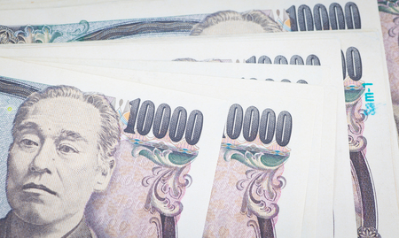 bank note: Stack of Japanese yen currency bank note Stock Photo