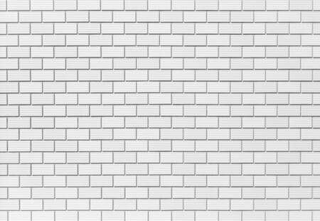 Bianco muro di mattoni piastrelle senza soluzione di sfondo e la trama