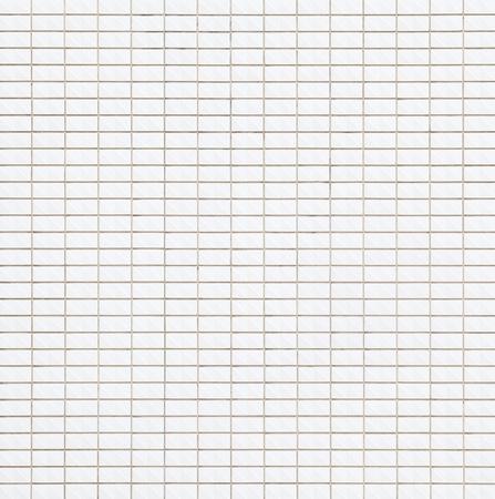 Fondo e struttura senza cuciture della parete delle mattonelle del mattone bianco