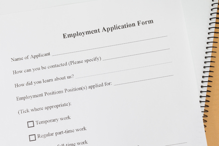 close up blank employment application paper form ロイヤリティー