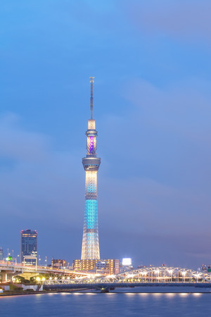 TOKYO - Aug 04 , 2013 : View of Tokyo Sky Tree (634m) , the highest free-standing structure in Japan and 2nd in the world with over 10 million visitors each year, on Aug 04 , 2013 in Tokyo, Japan.