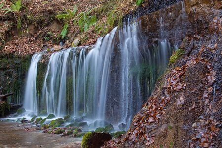 eco tourism: Shiraito Waterfall in autumn season ,  is located in the forests north of downtown Karuizawa , Japan