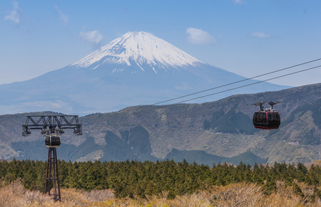 Mt.Fuji and ropeway at hakone , kanagawa prefecture