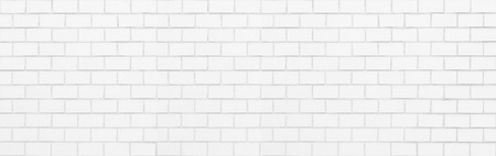 White brick wall seamless background and texture Фото со стока