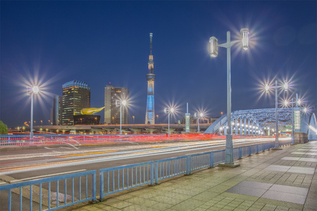 TOKYO - Nov 13 , 2012 : View of Tokyo Sky Tree (634m) , the highest free-standing structure in Japan and 2nd in the world with over 10 million visitors each year, on NOV 13 , 2012 in Tokyo, Japan. Editorial