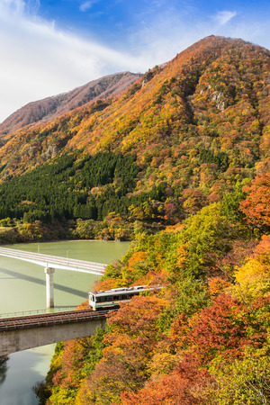 Banetsu West Line  at Fukushima in autumn