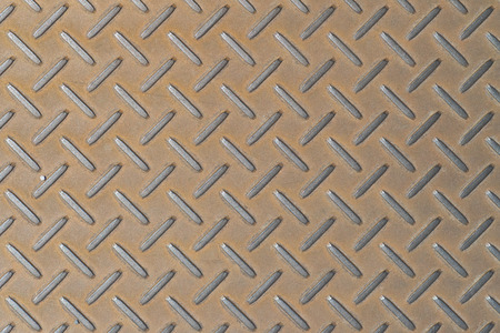 Brown metal plate floor background and pattern