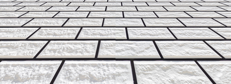 Panorama of white stone tile floor background Banque d'images - 100507580