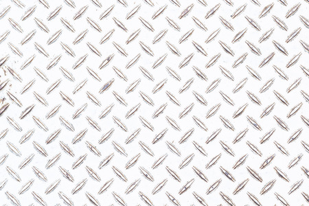 White diamond plate floor background and pattern Stock Photo