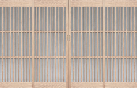Shoji , Traditonal Japanese door , window or room divider consisting of translucent paper over a frame of wood Stockfoto