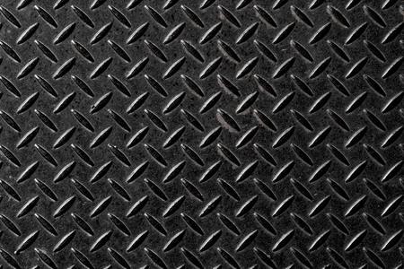 Black metal diamond plate pattern and background