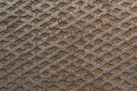 Rusty metal plate pattern and background