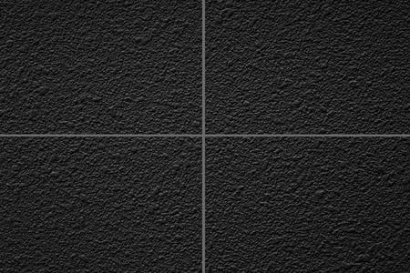 Black stone tile floor pattern and seamless background Reklamní fotografie
