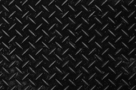 Black metal diamond plate pattern and seamless background