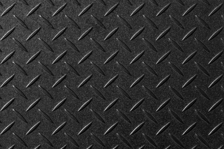 Black diamond plate pattern and seamless background Reklamní fotografie