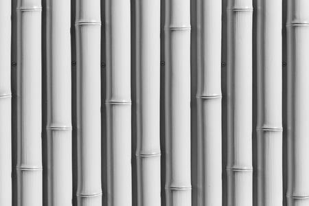 White bamboo wood femce background