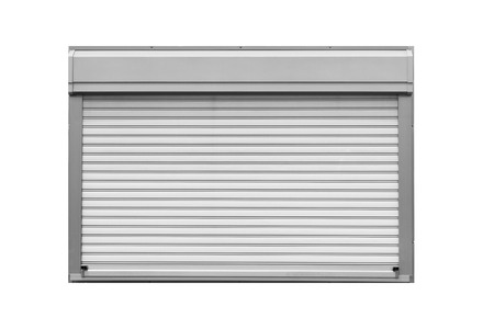 Metal shutter window isolated on white background
