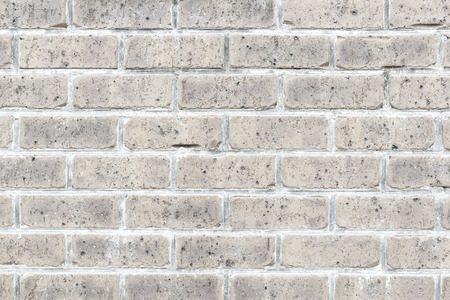 Old vintage white brick wall texture and background seamless
