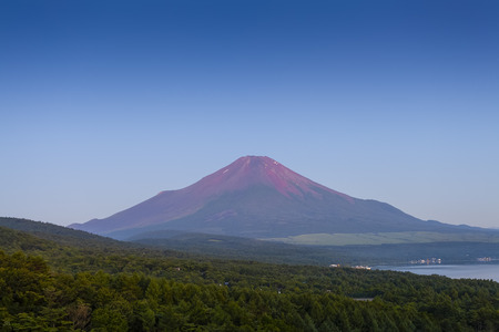 Mt.Fuji in summer season seem from Panoramadai view point