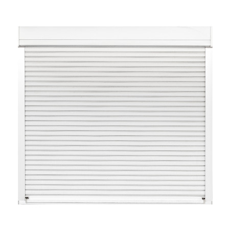 White metal shutter window isolated on white background Banque d'images - 119243500