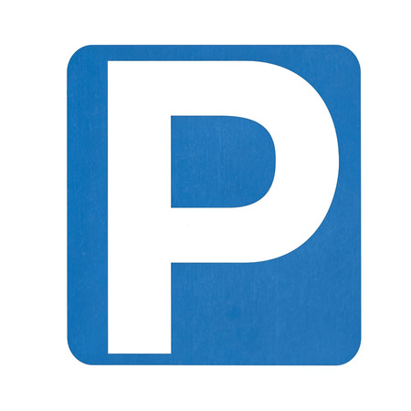 Parking sign isolated on white background 스톡 콘텐츠