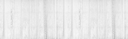 Panorama of white wood wall texture and background Stock Photo