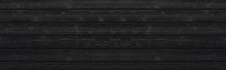 Panorama of Black wood wall texture and background