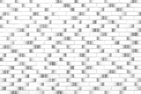 White brick wall background and texture Reklamní fotografie
