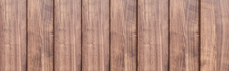 Panorama of Brown wood fence texture and background