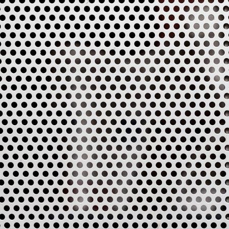 White metallic mesh texture and seamless background