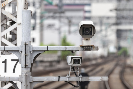 CCTV in the area of ​​the train station
